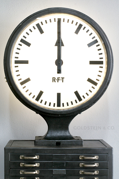 goldstein co while stocks last rft station clock. Black Bedroom Furniture Sets. Home Design Ideas