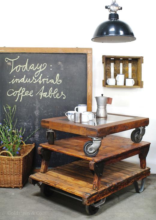 Couchtisch industrial style stunning freitag januar with for Couchtisch industrial look