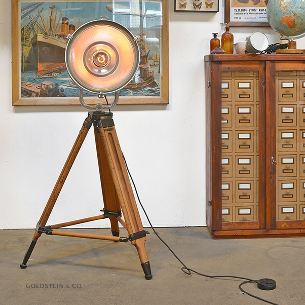 Industrielle Vintage-Stehlampe mit Dimmer