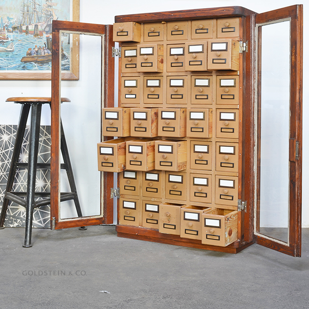 Goldstein & Co., While stocks last. — Vintage Wooden Drawer Cabinet
